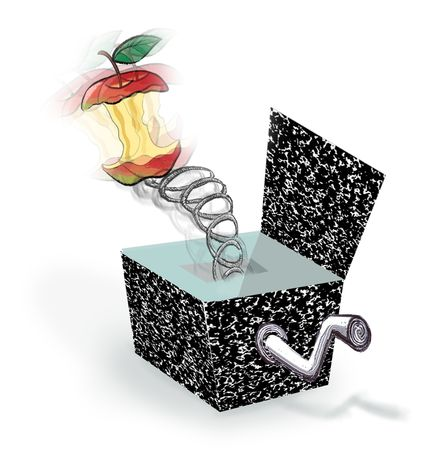Illustration Education Jack-in-the-box by John Camejo for The Washington Times