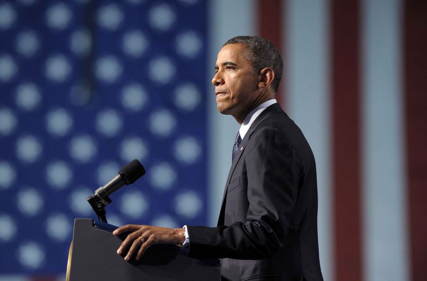 President Obama speaks July 23, 2012, at the 113th National Convention of the VFW in Reno, Nev. (Associated Press)