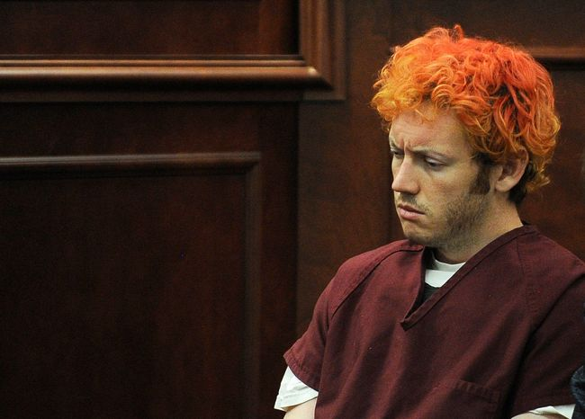 **FILE** James E. Holmes appears July 23, 2012, in Arapahoe County District Court in Centennial, Colo. Holmes is accused of killing 12 and wounding 58 in a shooting rampage in a movie theater on July 20 in Aurora, Colo. (Associated Press/Denver Post)