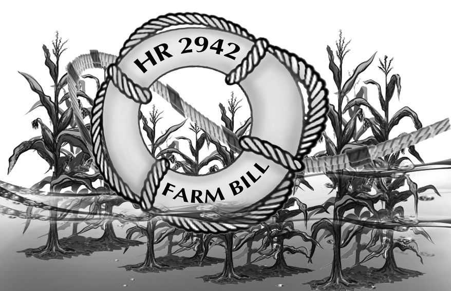Illustration Farm Bill by John Camejo for The Washington Times