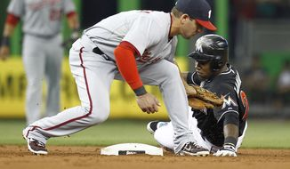 Danny Espinosa has made a smooth transition to shortstop in Ian Desmond's absence. (AP Photo/J Pat Carter)