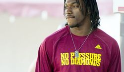 Hope for the Redskins begins with Robert Griffin III, whom they hope becomes their franchise quarterback. (Andrew Harnik/The Washington Times)