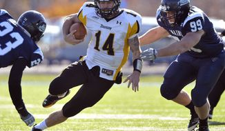 Towson finished beat Maine 40-30 last season and finished with a 9-3 record. (Associated Press)