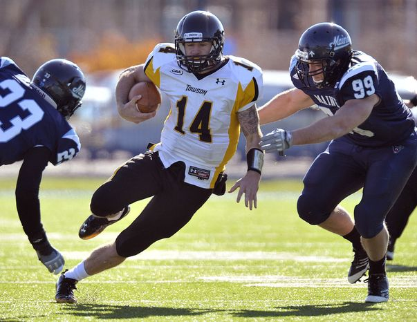 Towson finished beat Maine 40-30 last season and finished with a 9-3