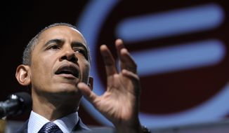 President Obama addresses the National Urban League convention at the Ernest N. Morial Convention Center in New Orleans on July 25, 2012. (Associated Press)