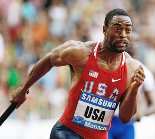 Sprinter Tyson Gay was sidelined for nearly a year after having surgery on his right hip in 2011. (Associated Press)