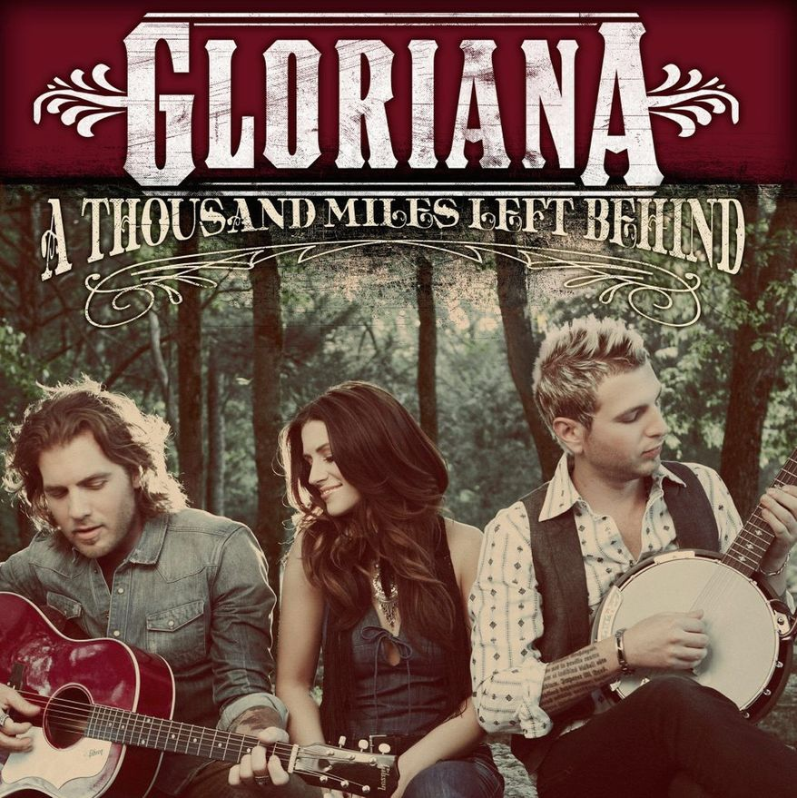 """Album cover for Gloriana """"A Thousand Miles Left Behind""""."""