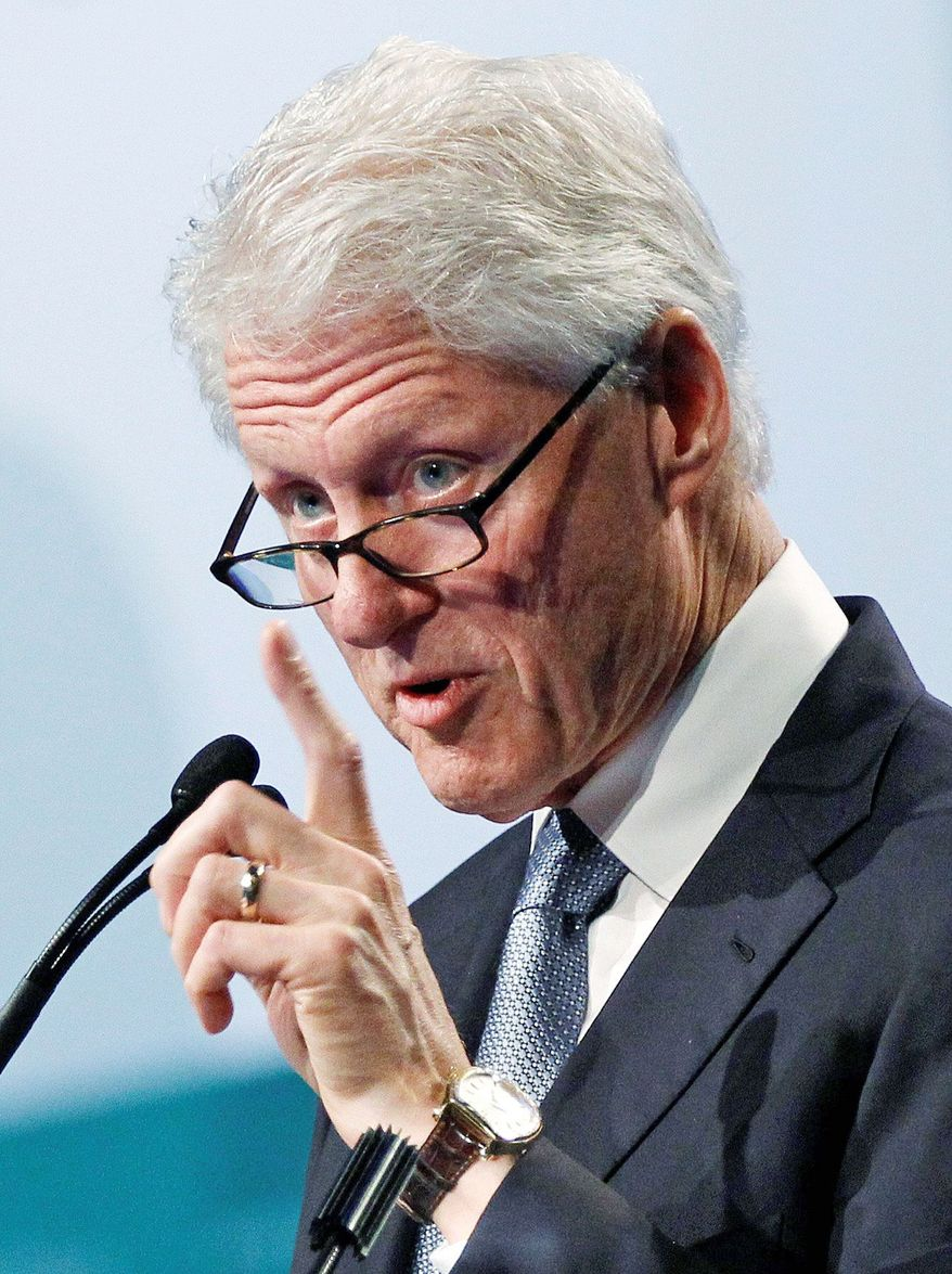 Former President Bill Clinton will officially renominate President Obama, but Republicans are eager to win over his supporters. (Associated Press)