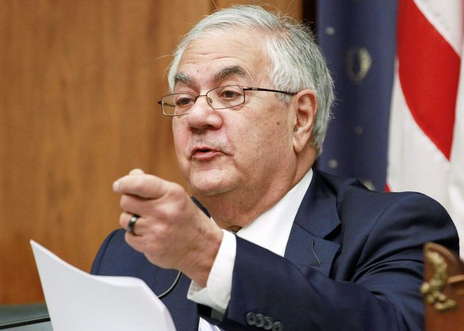 Rep. Barney Frank, a member of the committee drawing up the Democratic Party platform, said the draft document includes language backing gay marriage. The Republican platform is expected to still define marriage as the union of a man and a woman. (Associated Press)