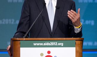 Sen. John Kerry, D-Mass., speaks at the XIX International Aids Conference, Monday, July 23, 2012, in Washington. (AP Photo/Carolyn Kaster)