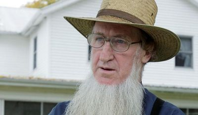 Sam Mullet Sr. is one of 16 Amish charged in beard- and hair-cutting attacks in Ohio who rejected government plea bargain offers of leniency Monday and will go trial. (Associated Press)