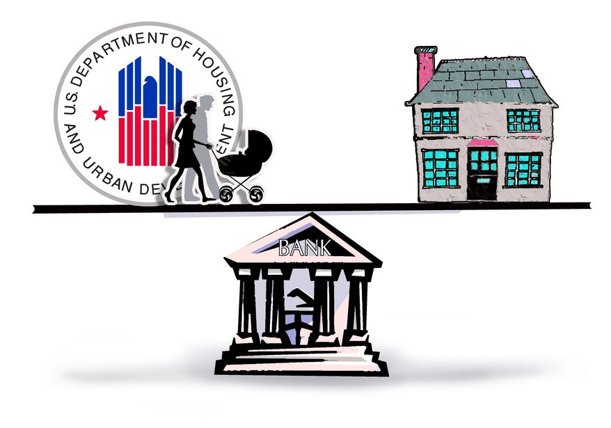 Illustration Home in the Balance by John Camejo for The Washington Times