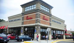 **FILE** A Chick-fil-A restaurant in Falls Church, Va., is seen Aug. 1, 2012. (Ryan M.L. Young/The Washington Times)