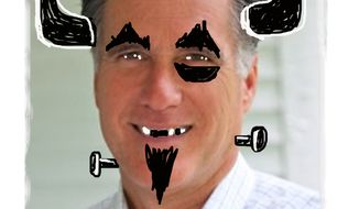 Illustration Evil Romney by John Camejo for The Washington Times