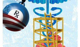 Illustration Fixing Healthcare by Greg Groesch for The Washington Times