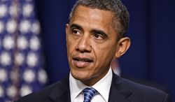 **FILE** President Obama talks Aug. 3, 2012, at the White House about taxes. (Associated Press)