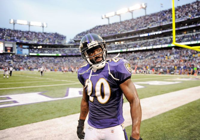 Ravens safety Ed Reed, the franchise leader in interceptions with 57, has one year left on his contract. (Associated Press)