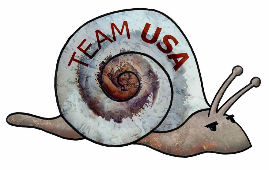 Illustration Snail's Pace USA by Greg Groesch for The Washington Times