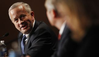 ** FILE ** In this Saturday, Feb. 18, 2012. file photo, Senate candidate John Brunner speaks to the other candidates during a forum at a Republican conference in Kansas City, Mo. (AP Photo/Orlin Wagner, File)