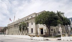 The David W. Dyer courthouse, a federal vacant building is shown in Miami, Monday, Aug. 6, 2012. The House Transportation and Infrastructure Committee is conducting an ongoing investigation to stop the federal government from wasting billions of dollars of taxpayer's money by sitting on its assets and mismanaging valuable federal-owned properties. (AP Photo/Alan Diaz)