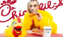Illustration Rahm's Chicken by John Camejo for The Washington Times