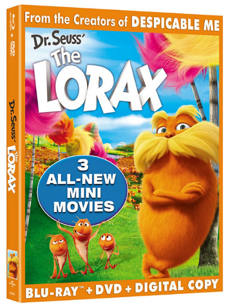 The Blu-ray release, Dr. Seuss' The Lorax