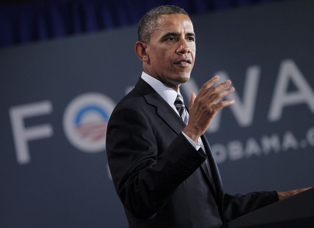 **FILE** President Obama speaks Aug., 6, 2012, at a campaign fundraiser in Stamford, Conn. (A