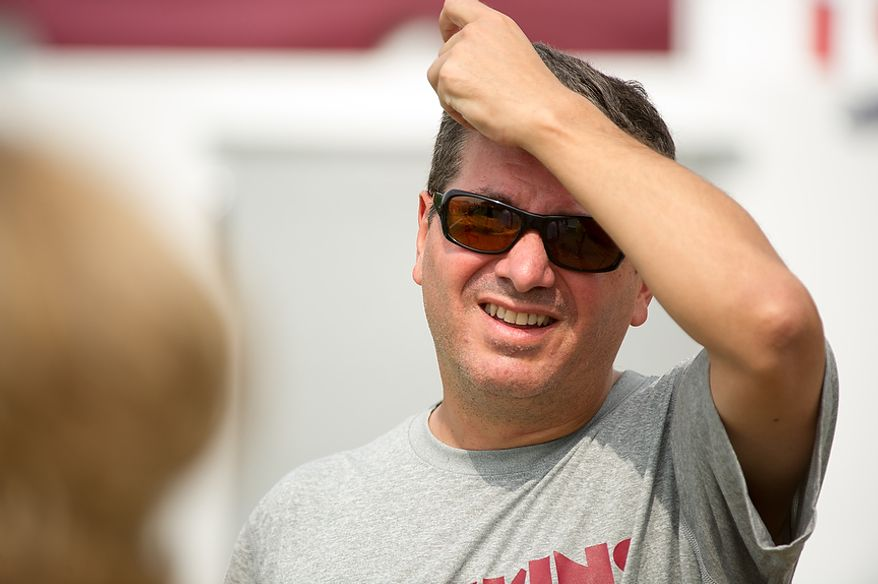 Washington Redskins owner Daniel Snyder following afternoon practice at training camp at Redskins Park, Ashburn, Va., Tuesday, August 7, 2012. (Andrew Harnik/The Washington Times)