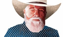 Illustration Charlie Daniels by Linas Garsys for The Washington Times
