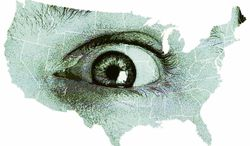 Illustration: Big Brother's Eye (Greg Groesch/The Washington Times)
