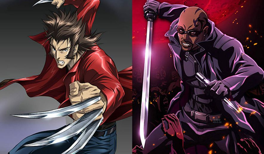 Wolverine and Blade come to anime life in their latest cartoon series.
