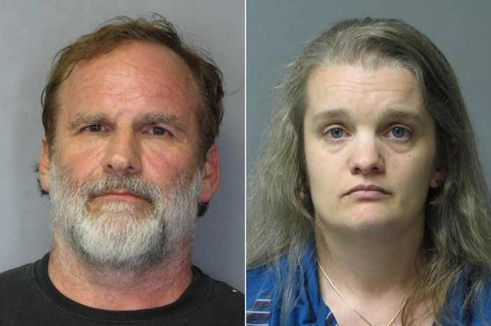 "This combination of photos released by the Delaware State Police shows Georgetown pediatrician Melvin Morse, 48, left, and his wife, Pauline Morse, 40. The couple have been charged with recklessly endangering their two daughters, including the use of a form of discipline that police say the Melvin Morse called ""waterboarding."" They were arrested Aug. 9, 2012. (Associated Press/Delaware State Police)"