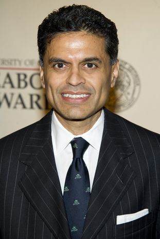 Columnist and TV host Fareed Zakaria is accused of plagiarizing for articles he wrote for Newsweek. (AP Photo/C