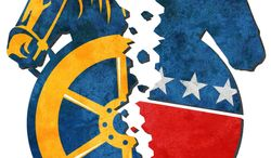 Illustration Union Split by Greg Groesch for The Washington Times