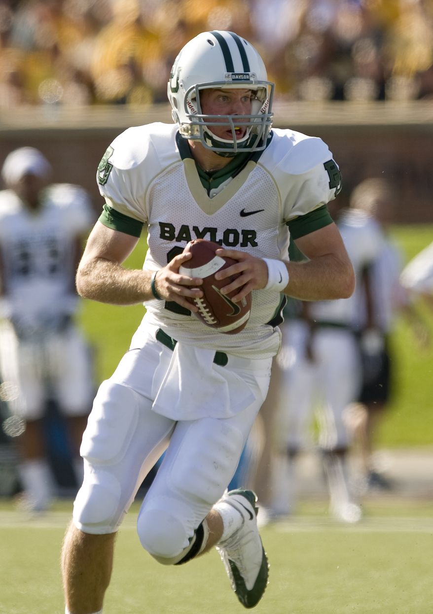The Baylor Bears are looking for quarterback Nick Florence to be more than a second-half fill-in for Heisman Trophy winner Robert Griffin III this season. (AP Photo/L.G. Patterson, File)