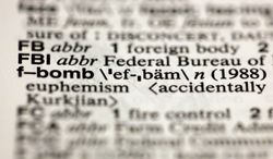 """The entry """"f-bomb,"""" photographed Aug. 10, 2012, in New York, is one of about a hundred new additions in the 11th edition of Merriam-Webster's Collegiate Dictionary. (Associated Press)"""