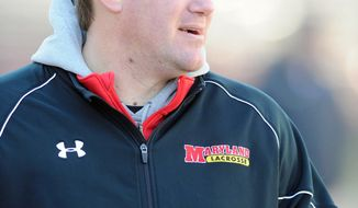 Kevin Warne has been hired as head coach of men's lacrosse at Georgetown University.  (Maryland Athletics)