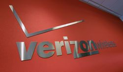 ** FILE ** The Verizon logo is seen at a company store in Mountain View, Calif., on Tuesday, June 12, 2012. (AP Photo/Paul Sakuma)