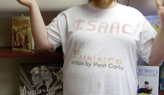 This July 2012 photo released by Karen Corby shows her autistic adult son, Paul, at the Pottsville Free Public Library in Pottsville, Pa. Paul was denied a heart transplant, and his mother is using an online petition to gather support in a bid to convince a hospital to reconsider. (Associated Press/Courtesy of Corby Family)