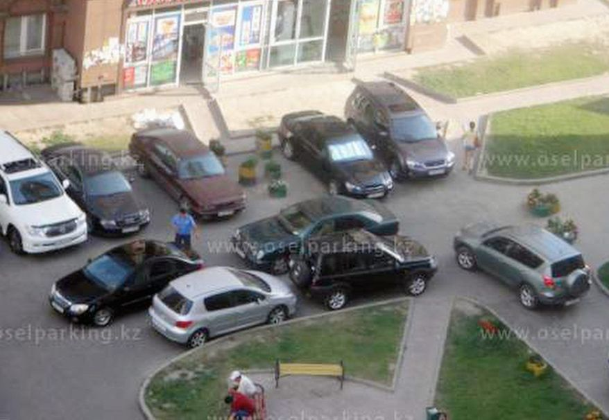 Kazakhs have posted hundreds of images on a website devoted to shaming motorists who park illegally or at best inconsiderately. (www.oselparking.kz)