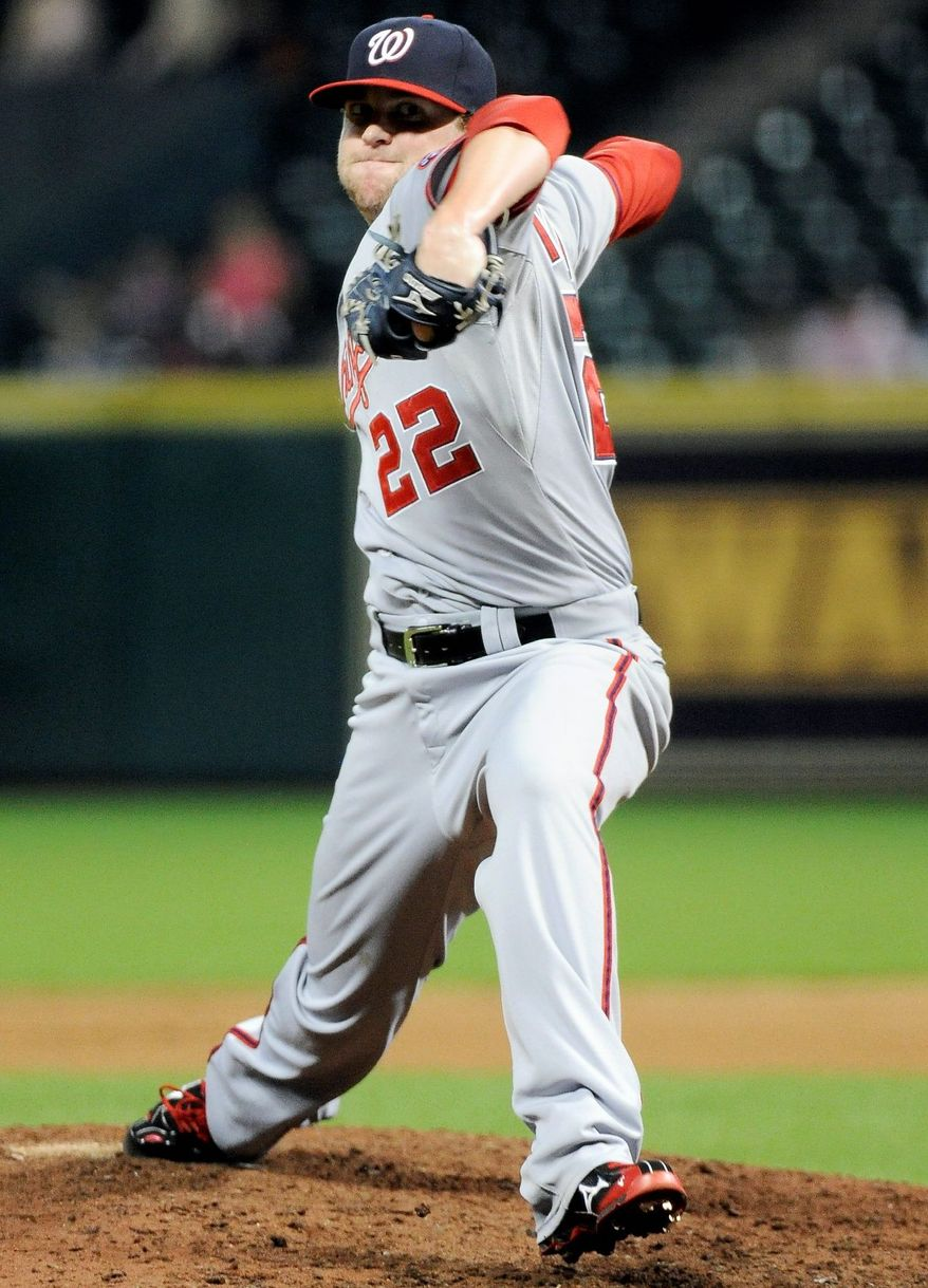 Drew Storen's role has changed since he saved 43 games for the Nationals last season, but his effectiveness hasn't. (Associated Press)