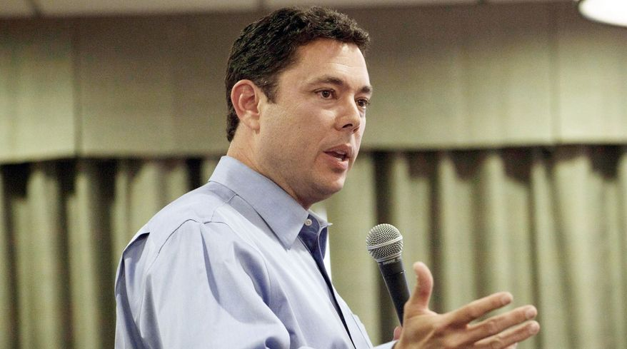 Rep. Jason Chaffetz, Utah Republican, plans to ask White House officials for more information on why the Labor Department spent a half-million dollars in federal stimulus money for more than 100 commercials that ran on MSNBC. (Associated Press)