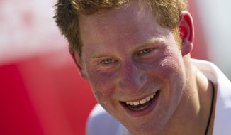 Britain's Prince Harry (AP Photo/Felipe Dana)