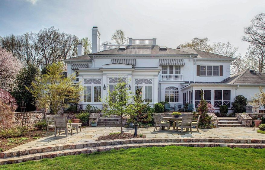 The grounds of the Southdown home include patios and terraces.