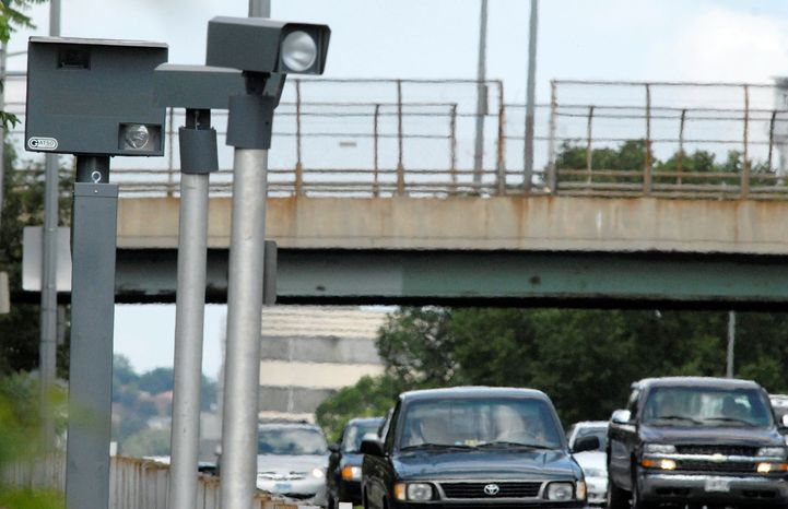 A speed camera on New York Avenue Northeast in Washington (The Washington Times) **FILE**