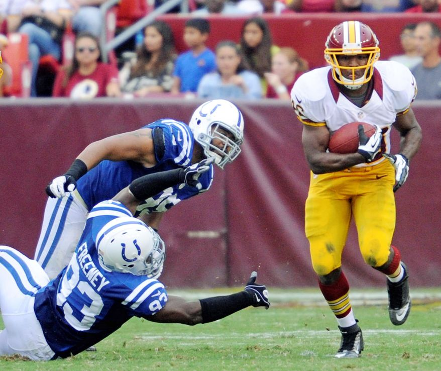 Injuries to the Washington backfield have helped create opportunities for rookie Alfred Morris. (Preston Keres/Special to The Washington Times)