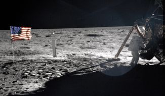 This July 20, 1969, photo from NASA shows Apollo 11 astronaut Neil Armstrong on the lunar surface. (AP Photo/NASA, Buzz Aldrin)