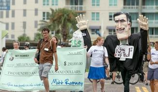 Storm not slowing down Tampa protesters