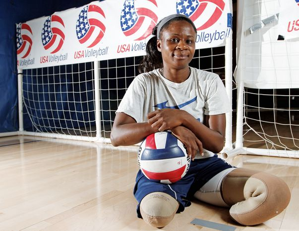 Kari Miller will be one of 20 veterans competing in the 2012 Paralympics and one of eight returning sitting volleyball players from the 2008 squad.  (Garett Fisbeck/Special to The Washington Times)