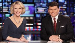 ** FILE ** Co-anchors Megyn Kelly and Bret Baier. (Fox News via Associated Press)